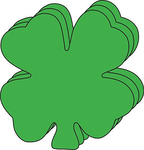 """Four Leaf Clover Large Single Color Creative Cut-Outs, 5.5"""" x 5.5"""", 31 Clovers to a Package- Kids' Irish Crafts and St. Patrick's Day School Craft Projects, St. Patty's Day Craft."""