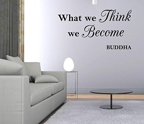 Vinyl Decal What We Think We Become Buddha Quote Wall Decal Saying Lettering
