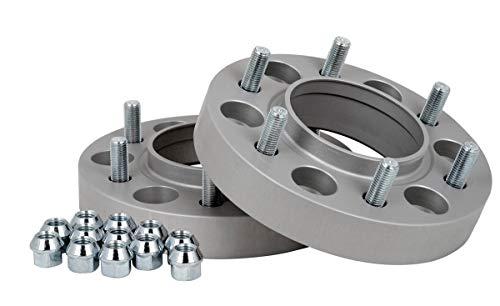 Separadores de acoplamiento de aluminio, 2 unidades (30 mm por disco/60 mm por eje), incluye certificado de piezas TÜV.