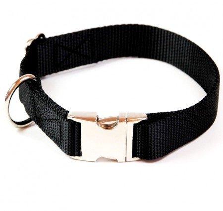 A. Hoffmann collar para perro de nailon suave y aluminio negro