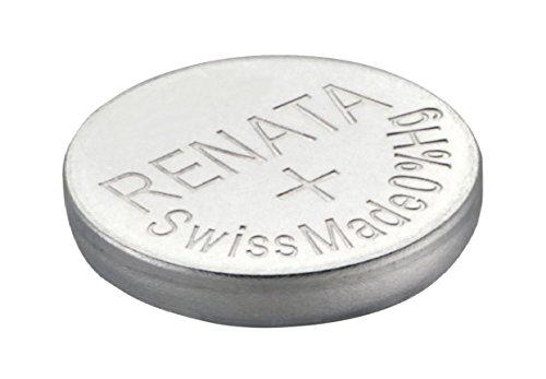 2 x renata montre bracelet pile - fabriqué en Suisse - Batteries Cells argent oxyde 0% mercure GRATUIT PILE BOUTON 1.55V Renata longue durée batteries - Argent, 377 (SR626SW)