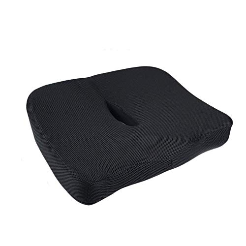 NCRD Cushion, for Hemorrhoid, Coccyx, Sciatic Nerve, Pregnancy and Tailbone Pain, Ergonomics Comfortable Cushion Breathable Durable Buttocks Curve Design Non-Slip Thicken Office Cushion