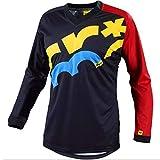 Jerseys De Ciclismo para Hombres, Motocross Bike MTB Ciclismo Manga Larga Bicicleta MTB Bike Shirt Que Absorbe La Humedad Camisetas Transpirables,4,XXL