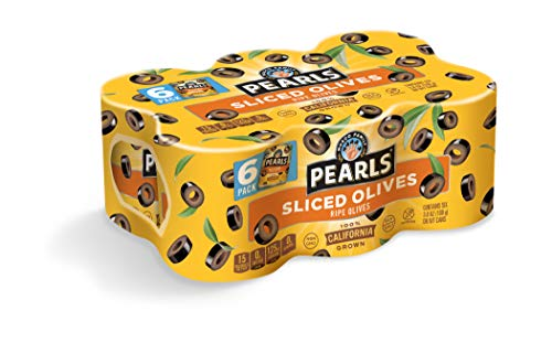 Pearls 3.8 oz. Sliced Ripe Black Olives, 6-Cans