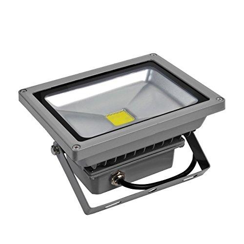 GRG Faretto LED 20W da esterno IP65 a luce bianca fredda 6500k, Proiettore Led COB ad alta potenza con riduzione dei consumi del 90% e durata di 50000 H. Faro Led ad alta versatilità.