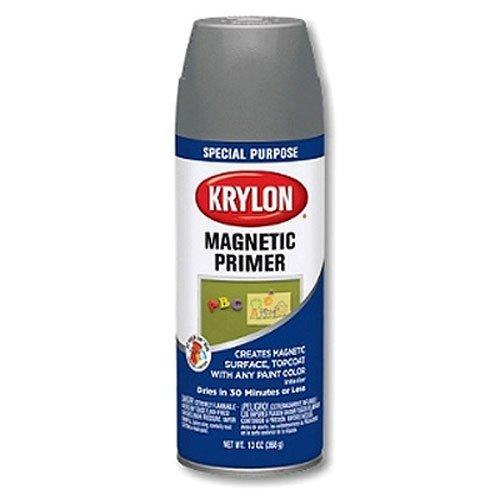 Krylon K03151000 Magnetic Paint, Gray, 13 Ounce