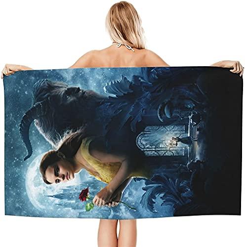 Aatensou Beauty and The Beast - Toalla de playa (3,90 x 180 cm)