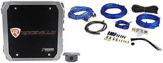 Rockville RXD-M0 1200 Watt Peak/300w Dyno-Certified RMS Mono 1 Ohm Amplifier Car Audio Amp + Amp Kit