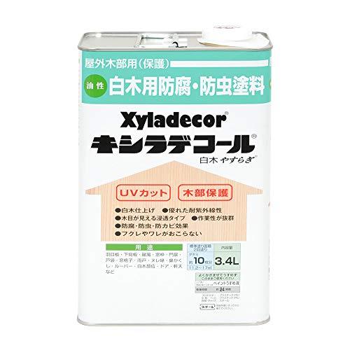 大阪ガスケミカル株式会社 キシラデコール 白木 やすらぎ 3.4L