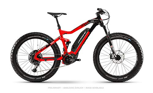 Haibike Xduro FatSix 10.0 26'' Fatbike Pedelec E-Bike MTB rot/schwarz 2019: Größe: M*