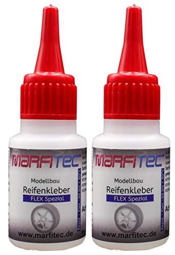 marfitec Modellbau Reifenkleber 2er Set 2X 20g - Flex - Standard Verschluss
