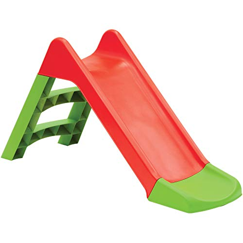 Starplast Kids Slide Outdoor Garden Plastic Children Toys Indoor Playground Play Red/Green