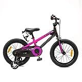 NB Parts - Bicicleta infantil para niños y niñas, BMX, a partir de 3 años, 12 pulgadas / 16 pulgadas, color Magenta mate., tamaño 16