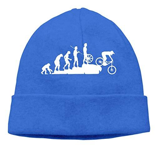 XCNGG Unisex Mountain Bike Downhill Knit Cap, Cotton Beanies Cap Blue