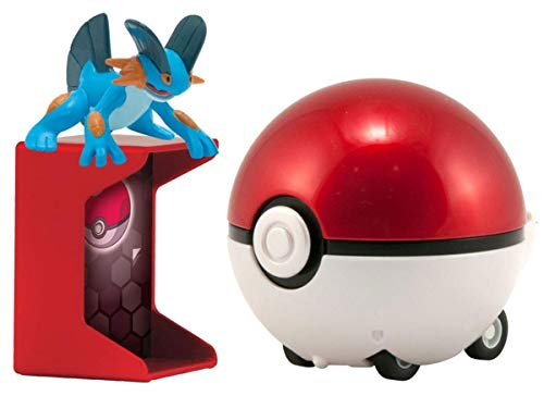 Pokemon Trainer's Choice Catch n Return Pokeball Swampert & Poke Ball Figure Set