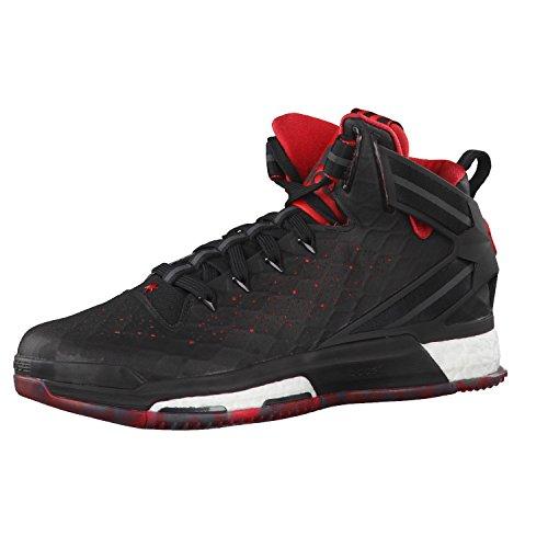 adidas Herren Sneaker, Grau, Weiß, Schwarz, Rot, 43 1/3 EU