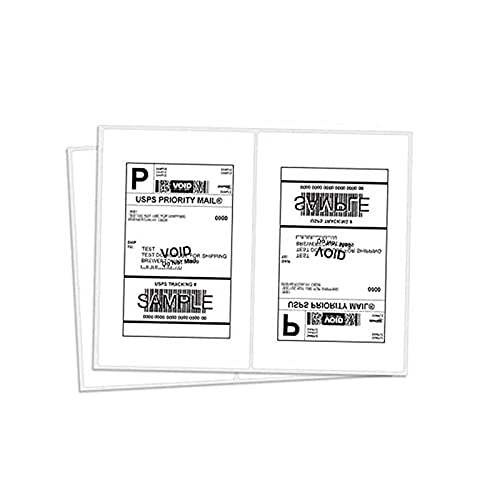 BESTEASY 200 Round Corner Half Sheet Self Adhesive Shipping Labels for Laser and Ink Jet Printers, White Blank (100 Sheets, 200 Labels)