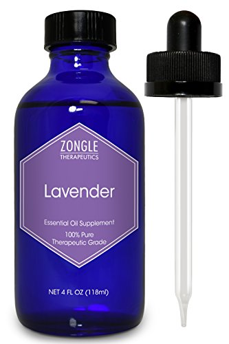 Zongle Lavender Essential Oil, French, Safe to Ingest, 4 OZ