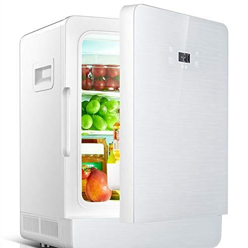 JOMSK 20Liter portátil Nevera, Mini Nevera/Congelador for la conducción, Camping, Viajes, Pesca, al Aire Libre Refrigerador Electrico (Color : White, Size : 44 * 31 * 30cm)