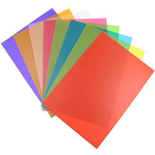 Farbfolie Farbfilter Folie, Filterset Farbkorrektur mit 8 Farben für Foto Studio Strobe Blitz LED Licht Scheinwerfer Stroboskop-Taschenlampe, durchscheinend (11.69 x 8.26 Zoll)