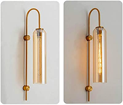 Citra Gold Long Glass Glass Wall Light Modern Copper Metal Bedroom Living Room Wall Light - Gold Warm White