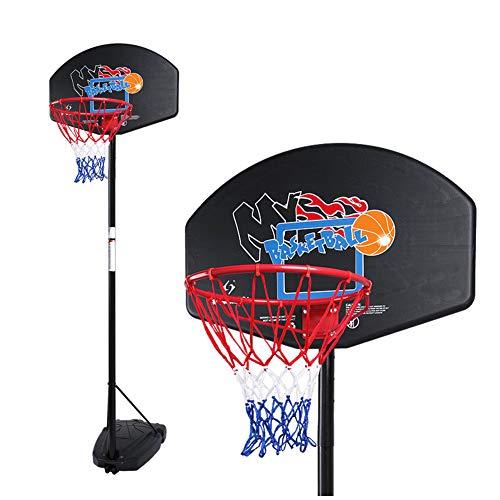 Jugendbasketballständer, zum Heben, höchster mobiler 3 m Basketballständer mit Rädern, Standard-Basketballrahmen für Kinder im Freien, Außeneinsatz-3.4 Meters