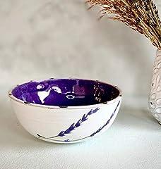 Handmade Ceramic Bowl in Lavender Design