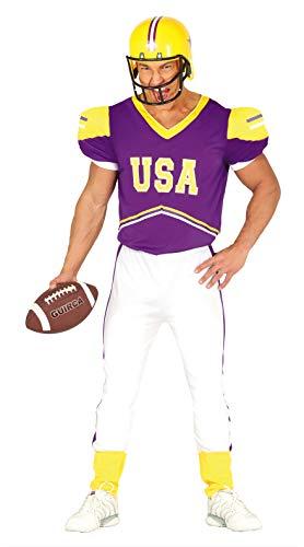 FIESTAS GUIRCA Disfraz Hombre Jugador de fútbol Americano Talla l