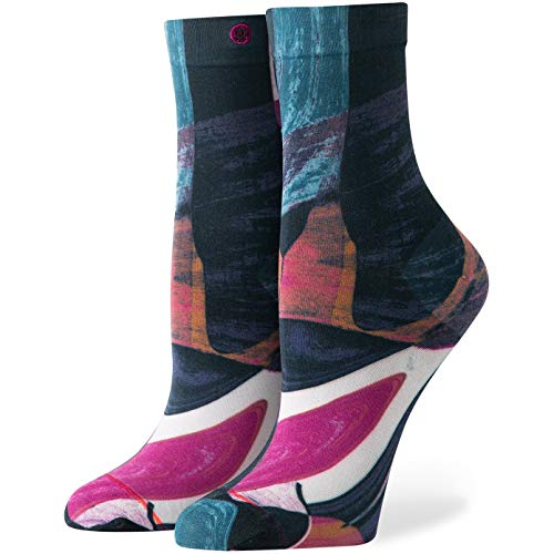 Stance Cassini - Calcetines para mujer, color negro