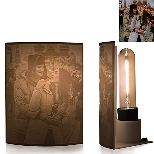 Retro 3D Fotolampe | Beleuchteter Fotorahmen mit 3D Bild | Personalisiertes Fotogeschenk (Retro, 15x18cm)