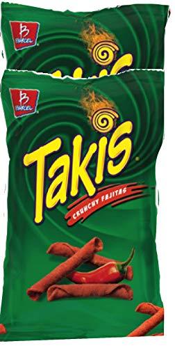 NEW Barcel Takis Stix Fuego Chili Pepper & Lime Partnered With Takis Crunchy Fajitas Net Wt 9.9 Oz (Crunchy Fajitas, 2)
