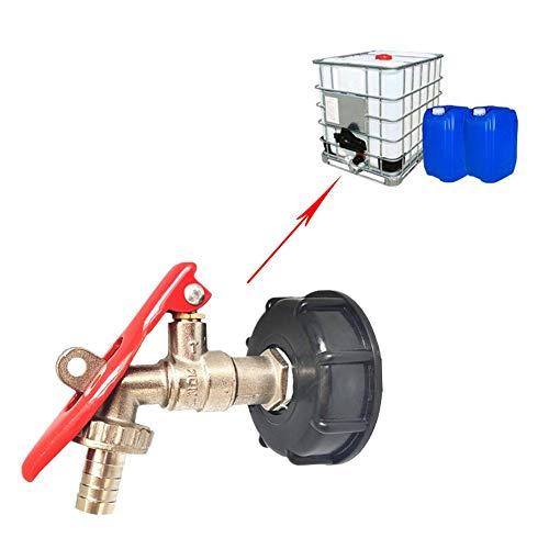 precauti - Adaptador de desagüe IBC para Manguera de riego con Cerradura para depósito de Agua y Tubo de conexión de válvula de Repuesto