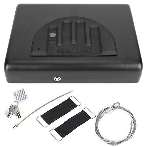 Caja Fuerte portátil, Sensor de Huellas Dactilares deslizable, diseño ergonómico, Caja de Seguridad compacta para Objetos de Valor, cajón de Alarma de bajo Voltaje, estantería para
