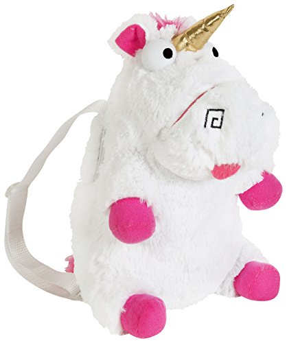 Fluffy Unicorn Plush Backpack School Nursery Rucksack Cabin Luggage Travel Agnes Despicable Me - Cuddly Unicorn Teddy Bag-Perfect Gift for Children