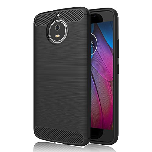 GeeRic Kompatibel Für Motorola Moto G5S Plus Hülle, [Carbon Fiber Series] Flexibles TPU Anti-Scratch Super Weiche Schutzhülle,Premium Silikon TPU Schale, idealen Schutz Case Cover
