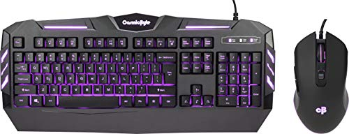 Cosmic Byte Dark Matter Gaming Keyboard and Mouse Combo, 3 Color LED Backlight, Upto 2400 DPI 5 Button LED Mouse (Black)