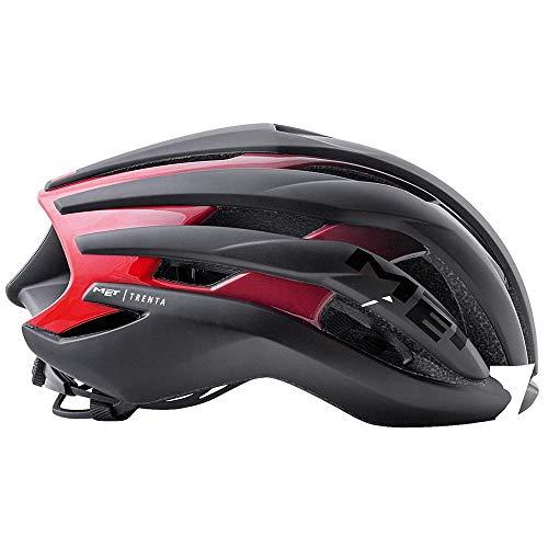 Met Casco Trenta L(58-61) Ciclismo, Adultos Unisex, Multicolor (Negro Rojo)