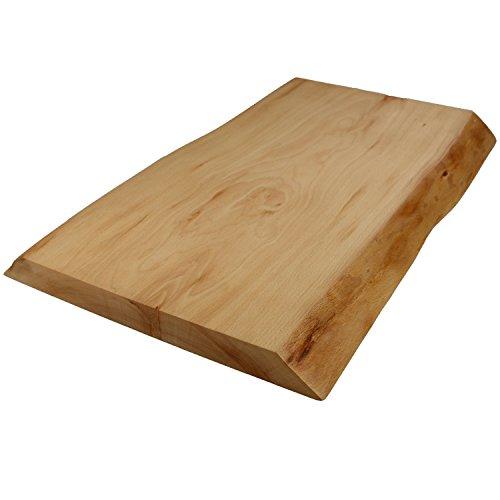 Paul Schneidebrett Natur Massiv Holz am Stück 3 Größen, Größe Schneidebrett:Senior