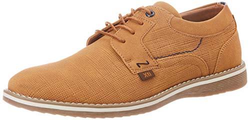 XTI 49690, Zapatos de Cordones Oxford Hombre, Marrón (Camel Camel), 44 EU