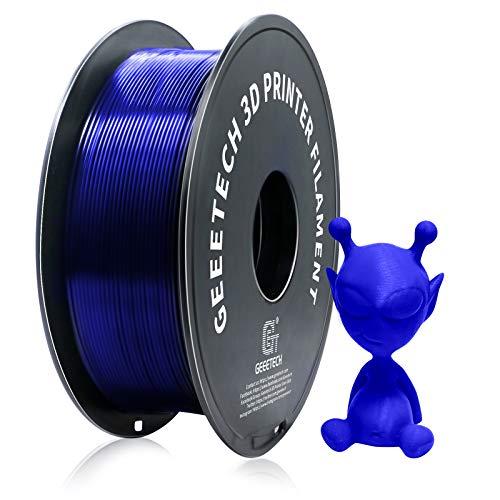 Geeetech PETG Filament 1.75mm, Upgrade Stronger Toughness Printing Consumables, Diameter Tolerance +/- 0.03 mm, 1 KG (2.2 LBS) Spool Fit Most FDM 3D Printer, Blue