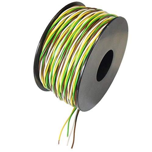 Preisvergleich Produktbild WITTKOWARE Litze verseilt,  4x0, 25mm²,  weiß / gelb / grün / braun,  25m Spule