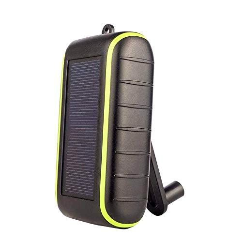 YIYIO EnergíA Solar Banco de EnergíA MóVil Fuente de AlimentacióN de Manivela de Mano Cargador de TeléFono MóVil USB BateríA Externa de Gran Capacidad 8000MAh