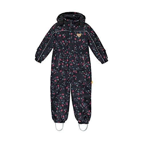 Steiff Baby-Unisex mit süßer Teddybärapplikation Schneeanzug, Navy, 086