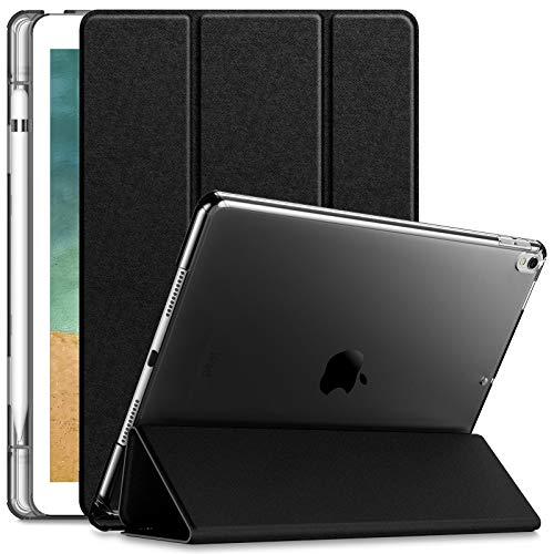 INFILAND Hülle für iPad Air 10,5\'\' 2019 (3. Generation) / iPad Pro 10,5 2017, iPad Air 3 Hülle, Superleicht Durchscheinend Gefrostet Hülle mit Apple Pencil Halter, Auto Schlafen/Wachen, Schwarz