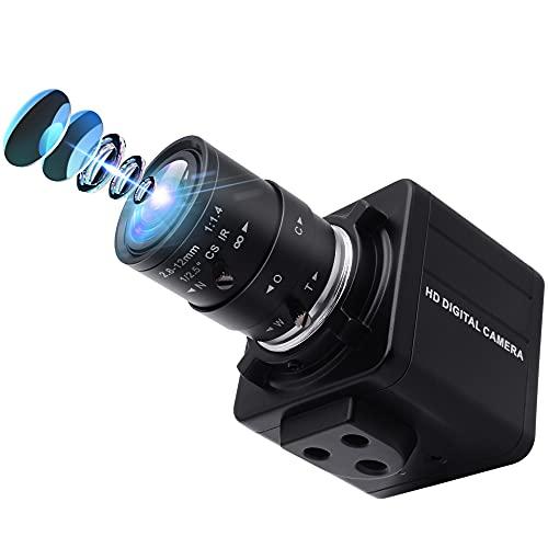 Webcamera_usb Varifocal Lens USB Camera 4X Optical Zoom Webcam 2.8-12mm Varifocus Web Camera Adjust Angle 8MP Varifocal Webcams with Sony IMX179 Focus Adjustable Raspberry Pi Windows Linux Web Cams