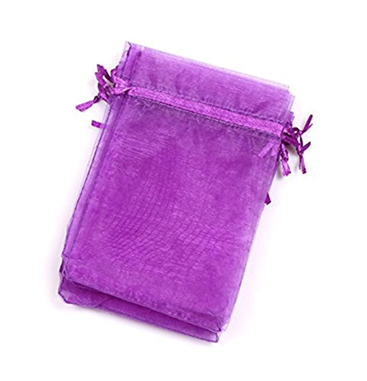 EDENKISS Purple Color Drawstring Organza Jewelry Pouch Bags 2.8x3.6