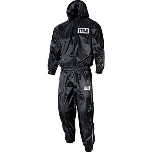 Title Pro Hooded Sauna Suit, Black, XX-Large