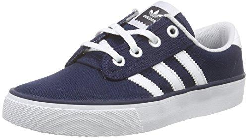 adidas Kiel - Zapatillas para Hombre, Color Azul Marino/Blanco, Talla 35