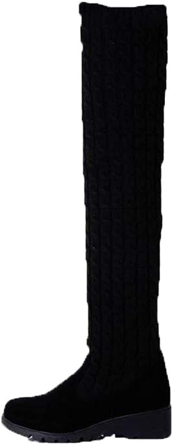 A-LING Women's Over The Knee Boot Sexy Over The Knee Pullon Boot Comfortable Boot