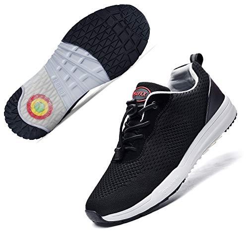 running shoe for plantar fasciitis men AMAXM Men Plantar Fasciitis Arch Support Orthopedic Shoes Wide Diabetic Arthritis Walking Shoes Flat Feet Bunion Pain Relief Sneakers (US7-11.5 D(M)